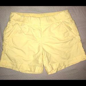 Yellow J.Crew Shorts. Size 0.